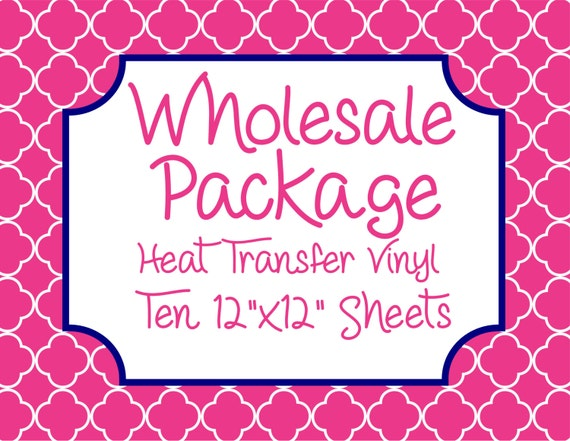 """Wholesale Package for Ten 12""""x12"""" Heat Transfer Vinyl Sheets // Beautiful, Vibrant Patterns"""
