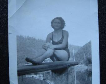 Esther... 1940's Vintage Photo... Original Vintage Snapshot Photograph