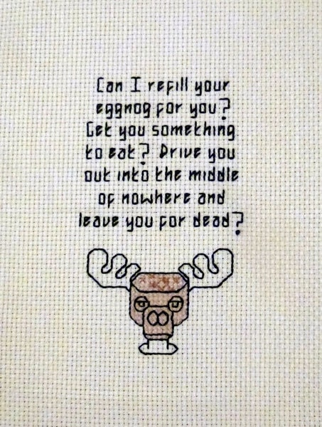 Clark Griswold Eggnog Rant Cross Stitch Pattern Christmas