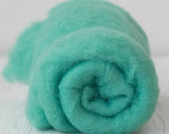 Carded Maori  Wool -Frog- 2 ounces