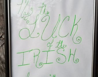May the luck of the Irish word art