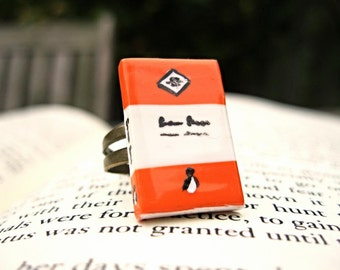 Vintage Penguin Book Ring (Made to Order) - Book Jewelry by Coryographies