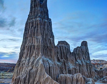 Cathedral Gorge Sunset, Nevada Photography, Desert Landscape, Southwest, Geology, Nature Photo, Hoodoo, Fine Art Print, Wall Decor, Picture