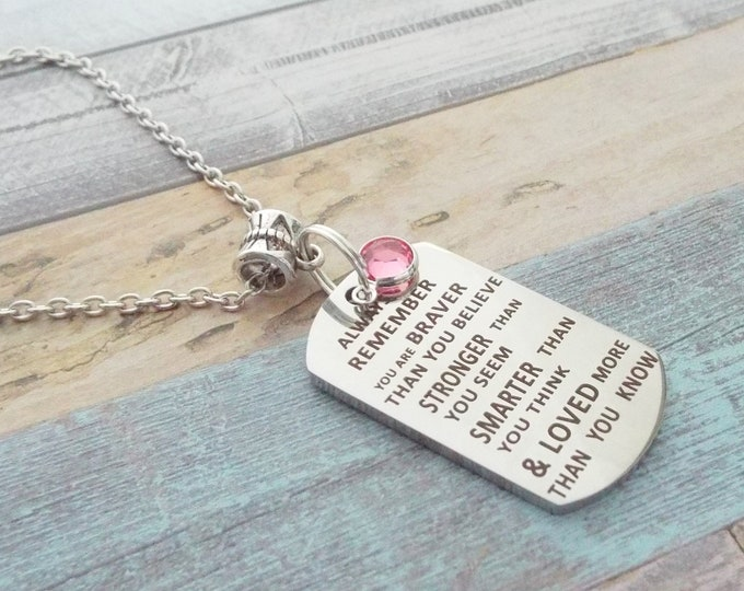 Daughter Gift,Graduation Gift for Girl, Girl Graduation Gift, Girl's Birthday Gift, Mother Daughter Gift, Inspiration Necklace, Gift for Her