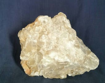 Selenite Crystal Quartz Cluster / LARGE Selenite Rock Mineral Home Decor Stone / Meditation Healing Crystal / Natural Selenite Slab Gemstone