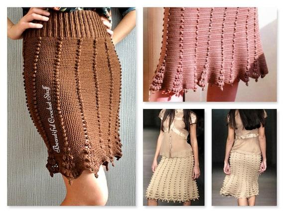 Pdf Crochet Pattern Crochet Skirt Pattern Womens Skirt