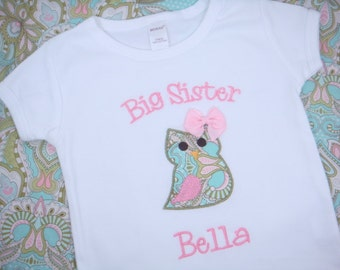 Big Sister Owl Shirt - Big Sister Shirt - Big Sis Shirt - Big Brother Shirt - Little Sister or Brother Bodysuit