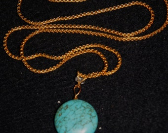 Turquoise and Lapis Pendant Necklaces