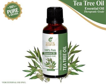 100% Pure Natural Tea Tree Essential Oil - Sheer Essence - Therapeutic Grade Tea Tree Oil 5ml To 500ml Free Shipping Worldwide