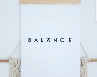 Balance typography print