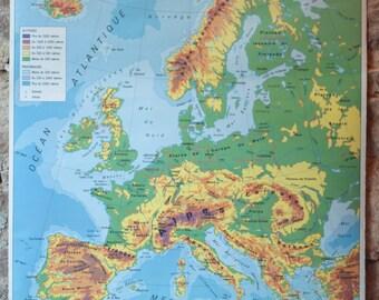 French school map Etsy