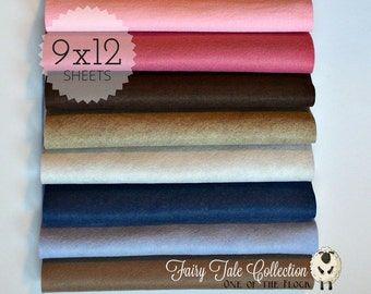 Fairy Tale Felt Collection, Wool Blend Felt, Wool Felt Sheets, Wool Felt Fabric, Felt Fabric Bundle, Wool Felt Bundles, Felt Collections