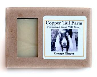 Organic Orange Ginger Goat Milk Soap