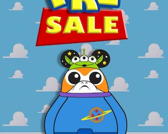 PRE-SALE - In Production - Alien Porg's Adventures In Mousetown | Soft Enamel Pin | Disney Parks Fantasy Pin | Toy Story Star Wars Pin