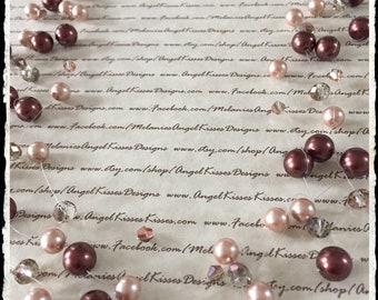Floating Pearls- Bronze N Beige