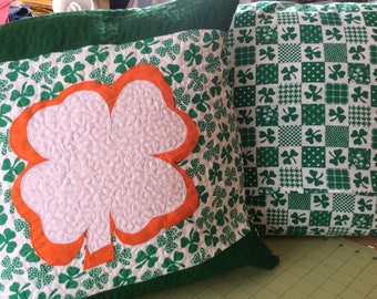 St. patricks Quilted Pillow cover