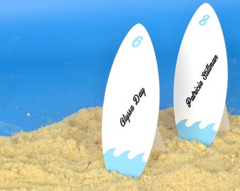 Surfing the Waves Surfboard Place Cards Set of 24