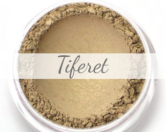 "Eyeshadow Sample - ""Tiferet"" - gold taupe - all natural mineral makeup"