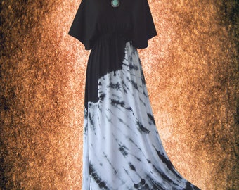 Minimalist Kimono Dress Hand dyed Casual maxi Dress