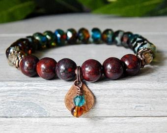 Boho Jewelry, Boho Bracelet, Womens Stretch Bracelets, Gemstone Bracelet, Bohemian Bracelet, Bohemian Jewelry, Beaded Bracelet for Women