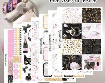 """Erin Condren and Happy Planner Sticker Kit - """"This Year Is Yours"""" - New Years Planner Stickers - 2017 Planner Stickers"""