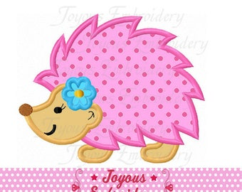 Instant Download Girl Hedgehog Applique Embroidery Design NO:2380