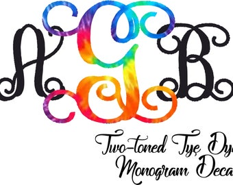 Two-toned Monogram Decal