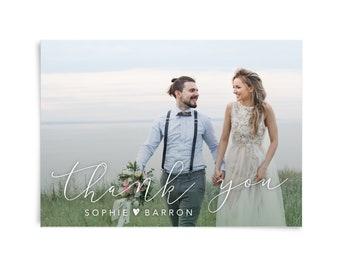 Wedding thank you card printable, Thank you cards wedding photo, Thank you card pack, Photo thank you card, Wedding stationary, Rustic