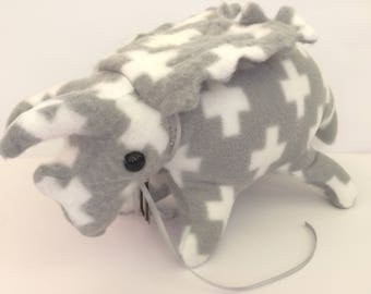 Baby Pentaceratops Plush, Dinosaur Plush, Handmade Pentaceratops stuffed animal ***FREE SHIPPING***