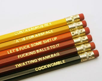 Sweary Pencil Set