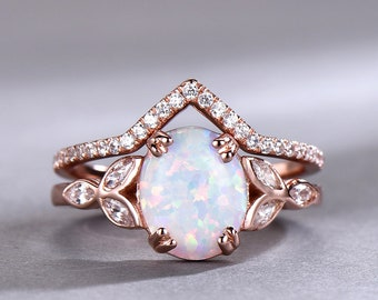 Opal wedding ring Etsy