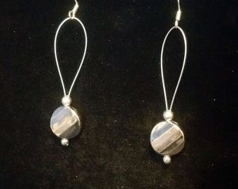Faceted drop earrings
