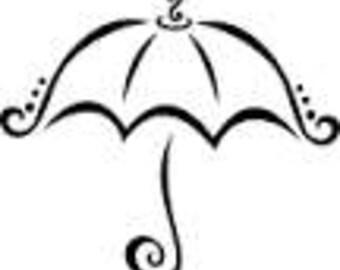 Umbrella SVG Cut File - umbrella design