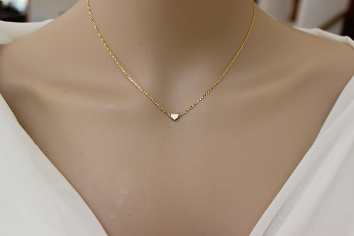 image necklace s simple itm drop delicate gold thin dainty y is loading chain silver circle long lariat