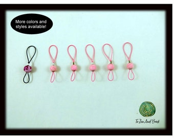 Light Weight Stitch Markers Knitting Stitch Markers Snag Free Stitch Markers Clay Bead Set of 6