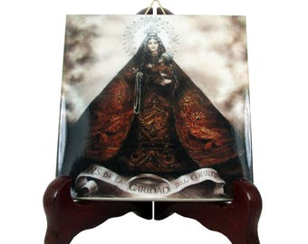 Religious gifts - Virgin of Charity - Our Lady of El Cobre - catholic icon on tile - religious gift - religious plaque - Caridad del Cobre