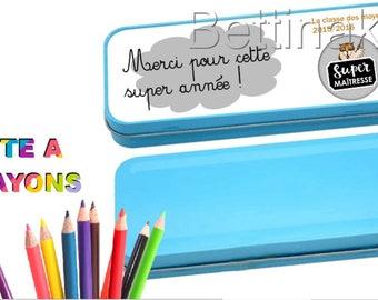SPECIAL custom teacher pencil box