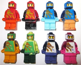 Party Favors Ninja Dragon Party Favors - Crayons Mini figures - 8/set Can be Personalized