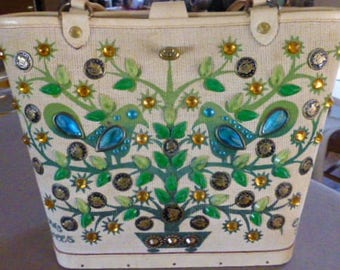 Sale--1960's Enid Collins of Texas It Grows on Trees Money Purse