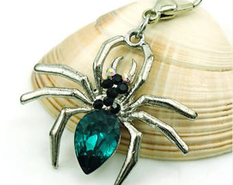Green Spider Charms pendant