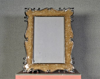 4x6 Frame Vintage Ceramic Photo Frame White with Optional UltraVue® UV70 Glass