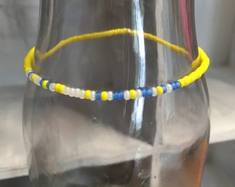 "Morse Code ""Run Happy"" stretchy bracelet, Pick your own colors"