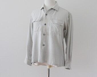Japanese Vintage Grunge Rayon Shirt Open Collar 60s Boro レーヨンシャツ ヴィンテージ オープンカラー 60年代 ジャパン グランジ