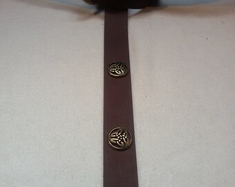 Middle Ages-belt ring-belts chocolate-Brown 150 cm 4 triad-Rivets 100% full-cowhide leather LARP role Play