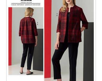 Vogue Pattern V1571 Misses' Loose, Unlined Jacket and Slim Pants