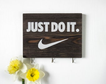 Nike gift, motivational wall decor, nike sign, just do it, motivational art