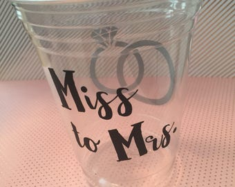 12 Miss to Mrs. bridal shower cups