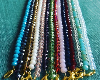 Crystal Beaded Chokers:  beaded chokers, sparkly beaded chokers, crystal choker necklaces