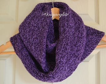 knitted scarf, snood scarf, stylish scarf, purple scarf, winter accessories, ladies scarf, man scarf, uk scarves