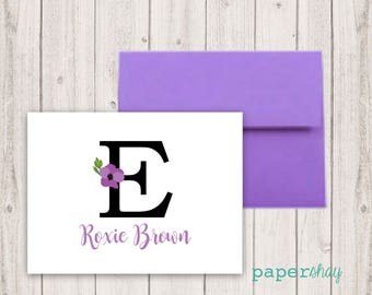 Personalized Stationery, Personalized stationary, Name, Monogram stationery, Monogram Note Cards, Personalized Notecard, Fold Over Cards